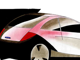 Car in marker pen