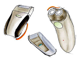 Shavers in marker pen