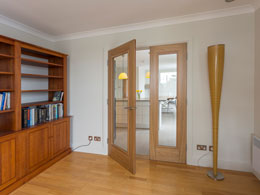 Bi-folding doors fully open
