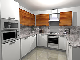 Mix and match colour kitchen units