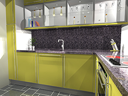 Small kitchen for 1 bedroom flat