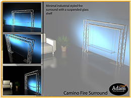 Fire surround presentation board