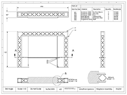Fire surround GA drawing